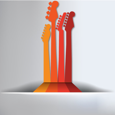 bass guitar: Guitar Abstract Background Illustration