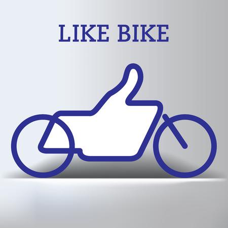 Bike Like Thumbs Up Graphic