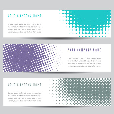Simple Colorful Horizontal Banners - With Square Motive Royalty ...