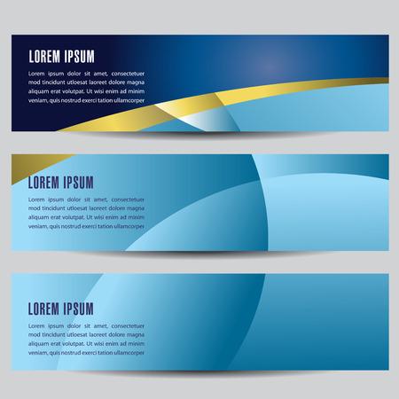 Abstract Horizontal Banners Stock Illustratie
