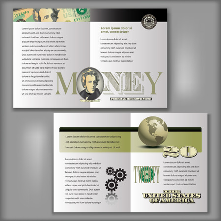 20 Dollar Bill Brochure Layout Template