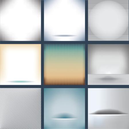 Nine Assorted Plain Backgrounds
