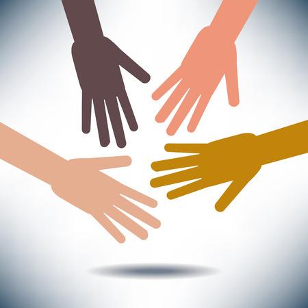 racial diversity: Diversity Image with Hands