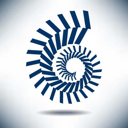 Nautilus Image with a Simple Blue Background Stock Illustratie
