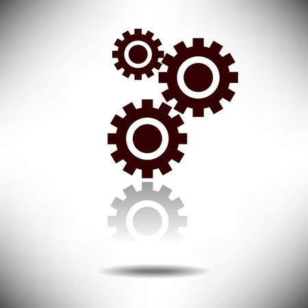 Cogwheel Development Icon op een eenvoudige achtergrond Stockfoto - 40213474
