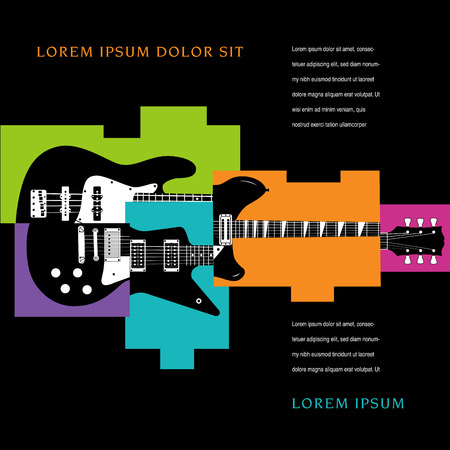 lead guitar: Music Concert Poster Layout Template Illustration