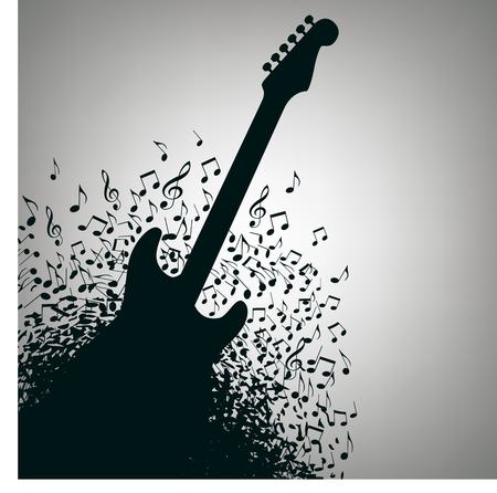 music: Guitar Music Concert Poster Layout Template