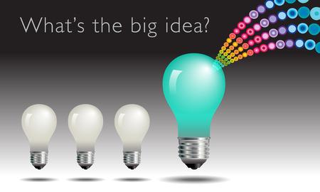 lightbulb idea: Concetto della lampadina idea