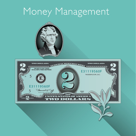 space for type: Money Management background with Space for Type