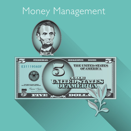 bill: Money Management background with Space for Type