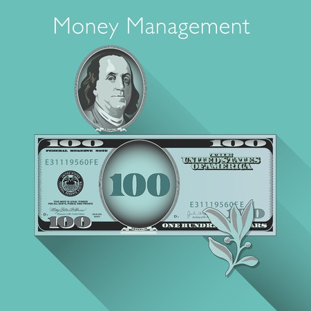 paper currency: Money Management background with Space for Type