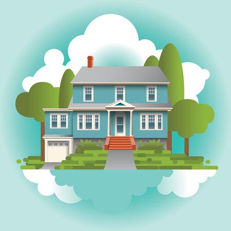 suburbs: A Stylized Quaint Home in the Suburbs