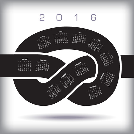2016 Knot Calendar Ideal for Being Behind Schedule