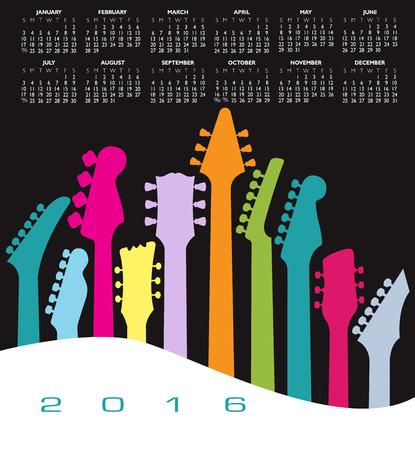 guitar: 2016 Creative Guitar Calendar