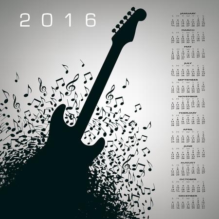 for print: 2016 Creative Guitar Calendar for Print or Web