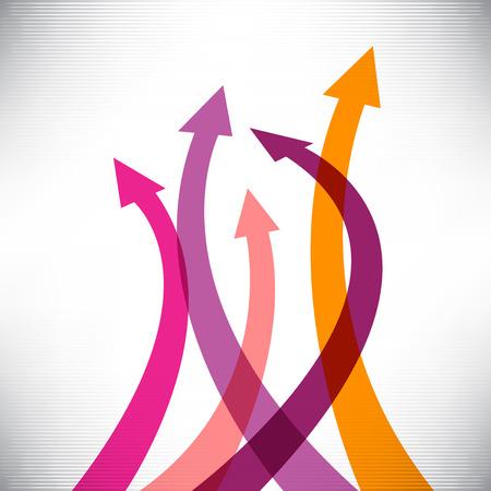 onwards: Success arrows creative background Illustration