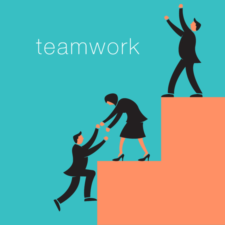 Creative teamwork background with business people