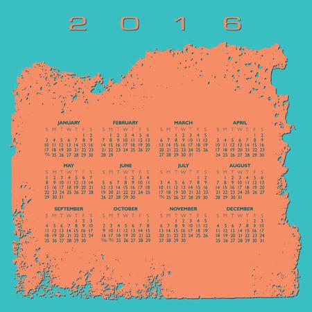 2016 Abstract calendar