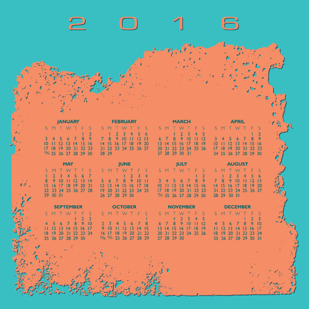 calandar: 2016 Abstract calendar