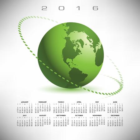 calandar: A 2016 globe calendar print or web