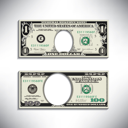 50 dollar bill: Stylized money looses face