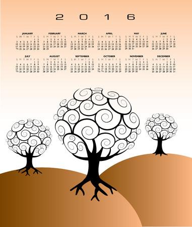 event planner: 2016 Creative tree calendar