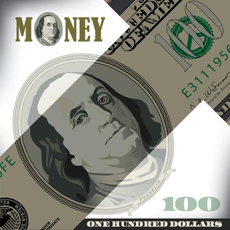 miscellaneous: Miscellaneous 100 dollar bill elements Illustration
