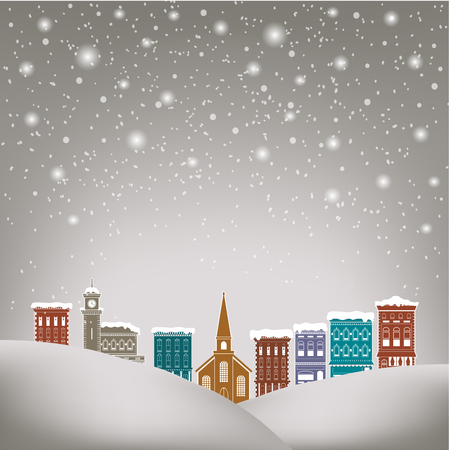 holiday celebrations: Quaint Christmas village  for print or web use