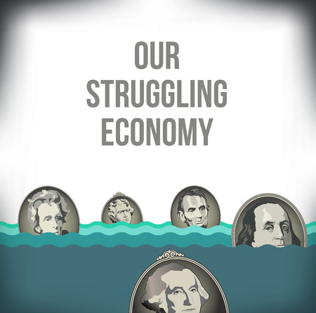 A graphic representation of the recession