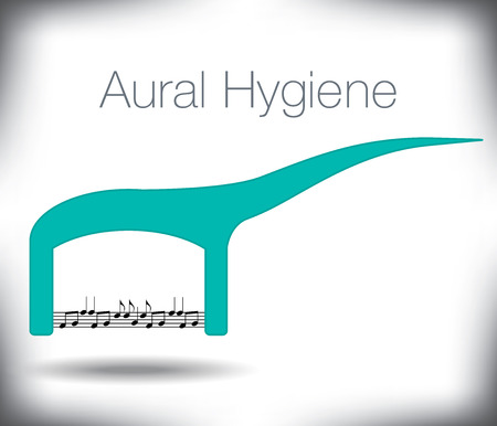aural: A floss pick acts as a musical score