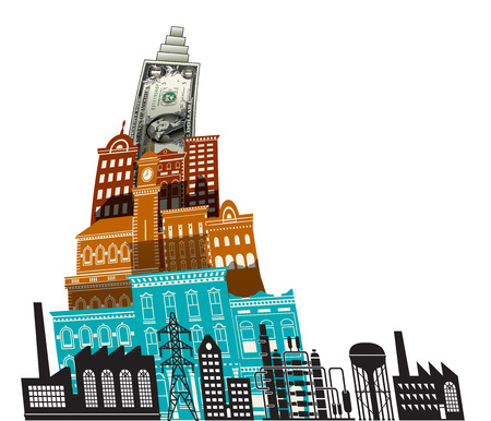 dollars: The dollar is king in this city Illustration
