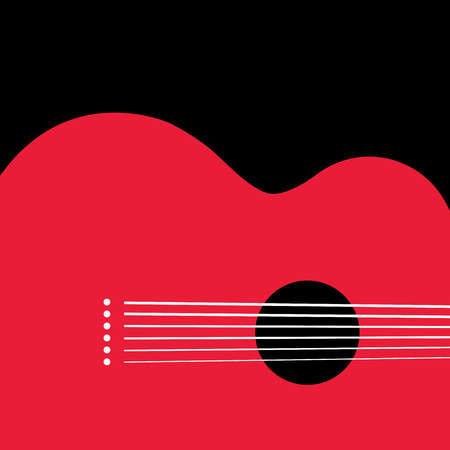ideal: Unusual guitar graphic ideal for music gigs