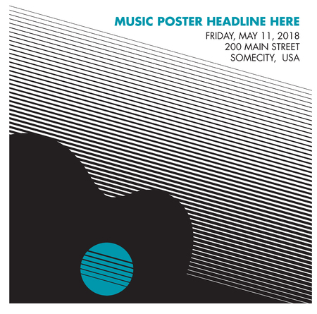 channel: Guitar poster, ideal for music gig announcements