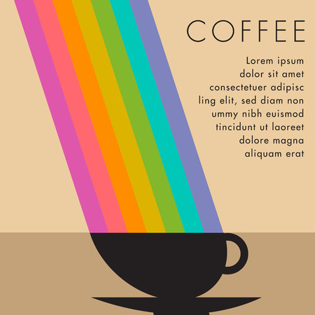 space for type: Coffee Cup Background with Space for Type Illustration