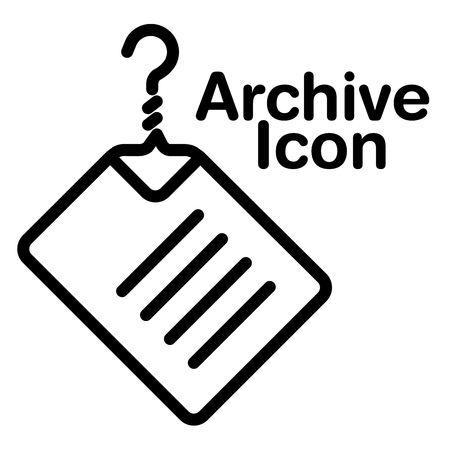 index card: A creative and new archive icon for print or web
