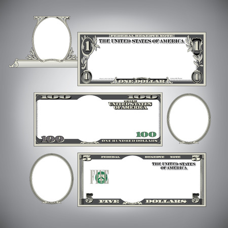 dollar bill: Stylized money with blank space for your text