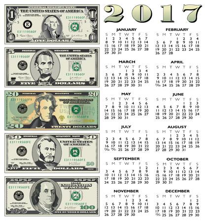 2017 financial calendar for print or web