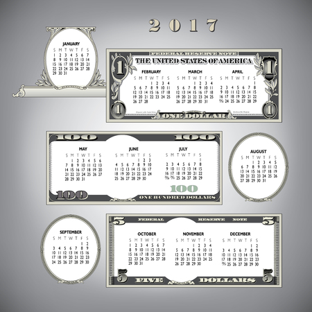 ideal: 2017 money calendar, ideal for any business
