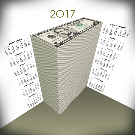 2017 money calendar, ideal for any business