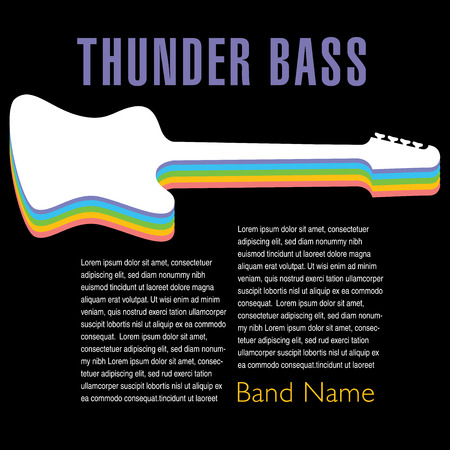 Thunder Bass colorful artwork for your next project