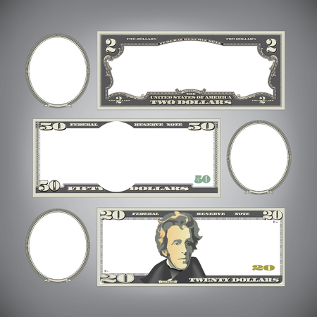 50 dollar bill: Stylized money with blank space for your text