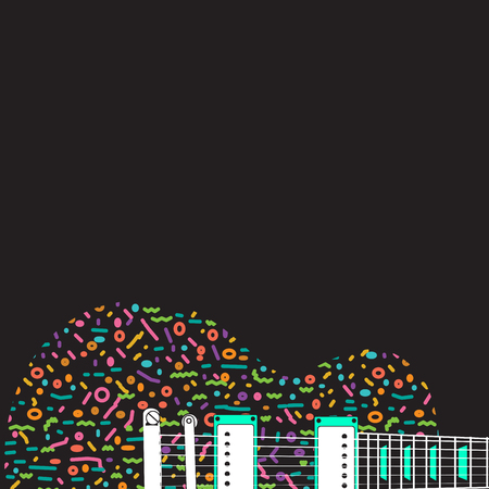 accords: Colorful abstract guitar background