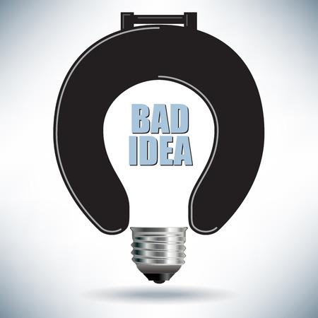 Żarówka Zły pomysł Idea z sedesem