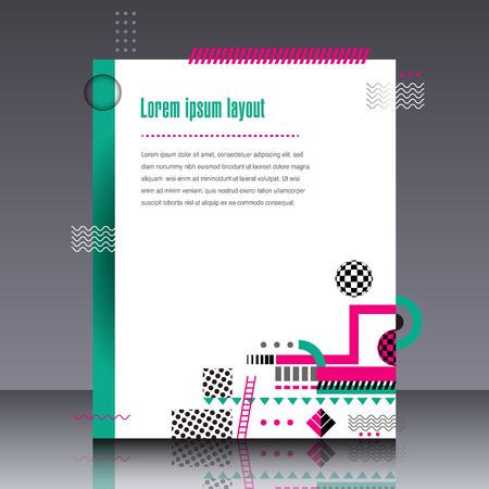fresh colors: Abstract interesting geometric design in fresh colors Illustration