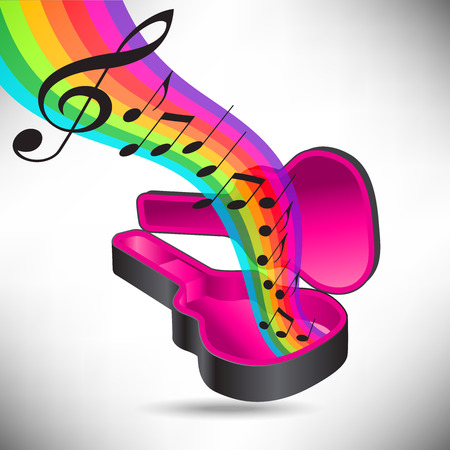 accords: A rainbow of music flows from a guitar case