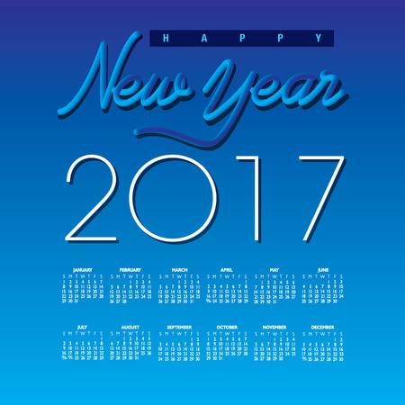 2017 Creative Happy New Year calendar