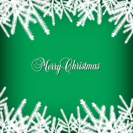bright christmas tree: Classic  Christmas background with pine needles