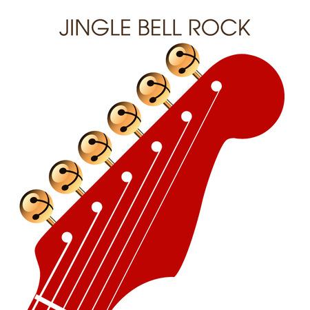 jingle bell: Jingle bell rock musical holiday artwork Illustration
