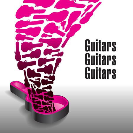 決して十分なギターはこのグラフィックのテーマ