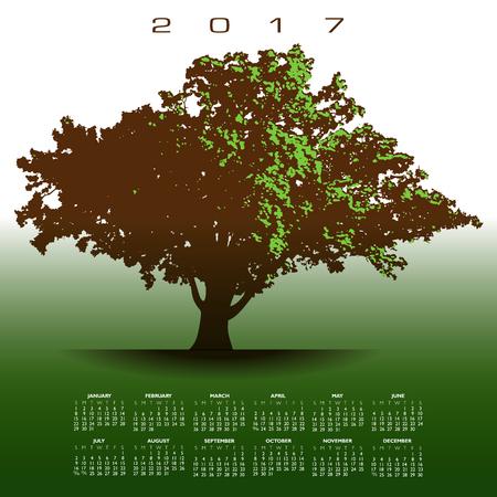 glorious: A large glorious old oak tree 2017 calendar
